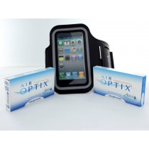 Air Optix Aqua, 2x 6er Box + IPhone Armbandtasche