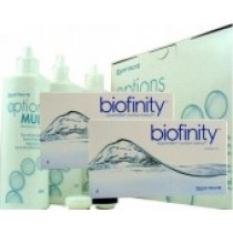 Biofinity, 2x 6er Box + Pflegemittel