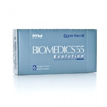 Biomedics 55 UV Evolution , 6er Box - Minuswerte