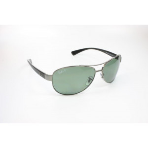Ray Ban RB3386 004/9A Gr. 63 M - Gunmetal/POLARIZED Green